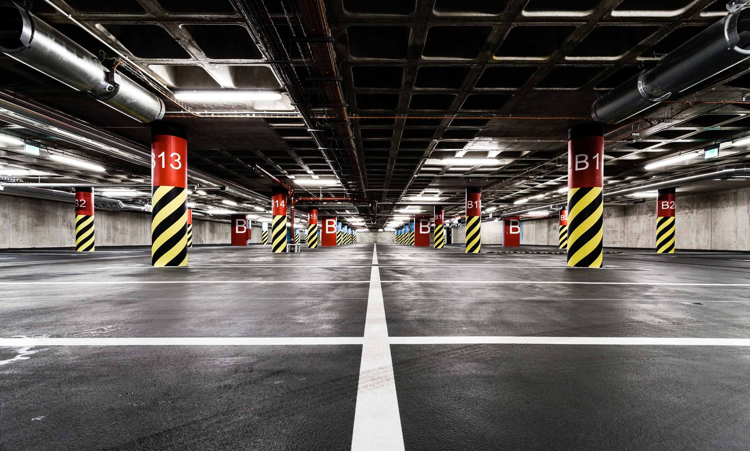 CLEANING OF EXTERIOR AND INTERIOR PARKING
